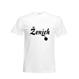 Tričko ženich - bílé/černé